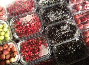 Замороженные фрукты для сорбета
